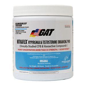 German American Technologies GAT NITRAFLEX Hyperemia & Testosterone Enhancing PWD - Blue Raspberry