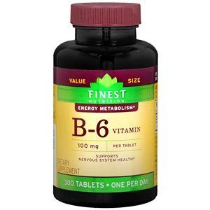 Finest Nutrition Vitamin B6 100mg, Tablets