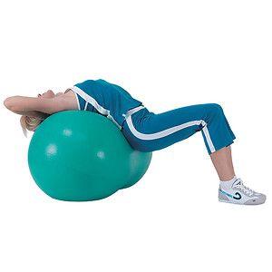 Sivan Health And Fitness Peanut Exercise Ball, 40 x 80cm, Green, 1 ea