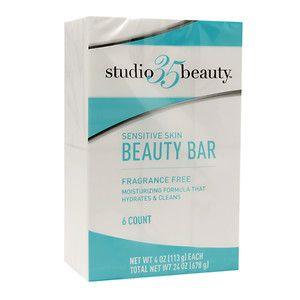 Studio 35 Beauty Bar Soap, Sensitive, Fragrance Free, 6 pk, 4 oz