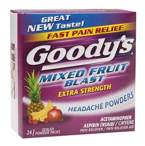 Goody's Headache Powders, Mixed Fruit Blast, 24 ea