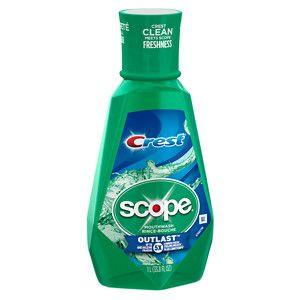 Procter & Gamble Scope Outlast Long Lasting Mint Mouthwash 1 L, Blue