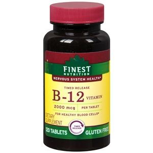 Finest Nutrition Timed Release Vitamin B12 2000mcg, Tablets, 120 ea