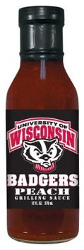 Wisconsin Badgers Peach Grilling Sauce Hot Sauce Harry's