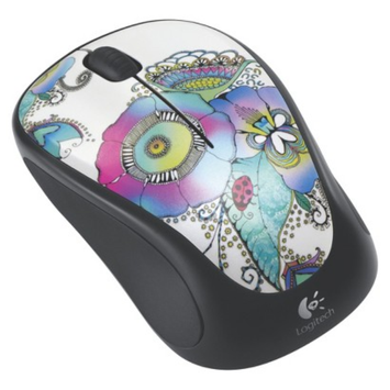 Logitech M317 Lady on the Lily Wireless Mouse - Multicolor (910