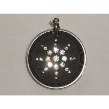 Quantum Value QBP Scalar Energy Scalar Energy Pendant Dark Gray w/Clasp Ring Necklace and Crys