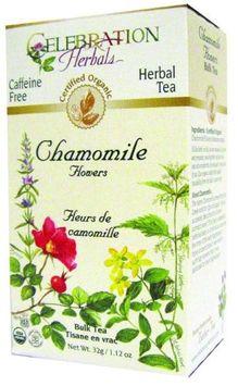 Celebration Herbals Organic Chamomile Flowers Bulk Tea Caffeine Free 32 g