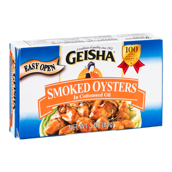 Geisha Smoked Oysters In Cottonseed Oil