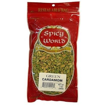 Spicy World Green Cardamom, 7-Ounce Pouches (Pack of 2)
