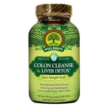 Well Roots Colon Cleanse & Liver Detox, Softgels, 60 ea