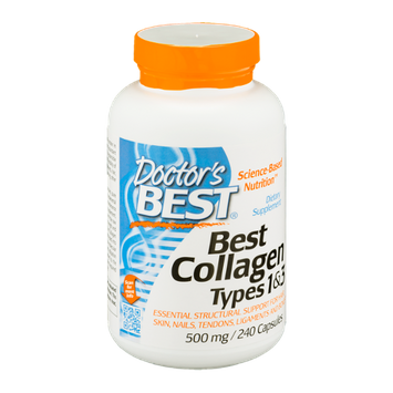 Doctor's BEST Best Collagen Types 1 & 3 500mg Capsules - 240 CT