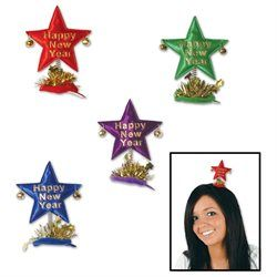 Beistle - 80769 - Happy New Year Star Hair Clips