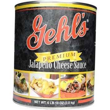 Gehl's Jalapeno Cheese Sauce, 106-Ounce (Pack of 2)