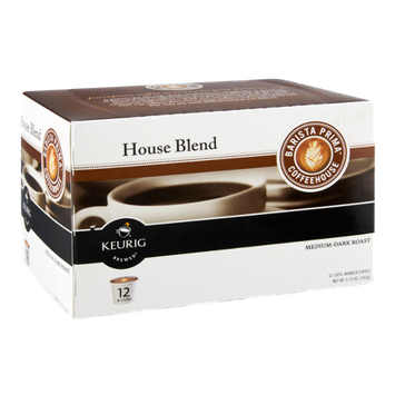 Barista Prima Coffee House Keurig Brewed Medium-Dark Roast House Blend K-Cups - 12 CT