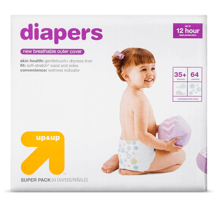 up&up™ size 6 baby diapers