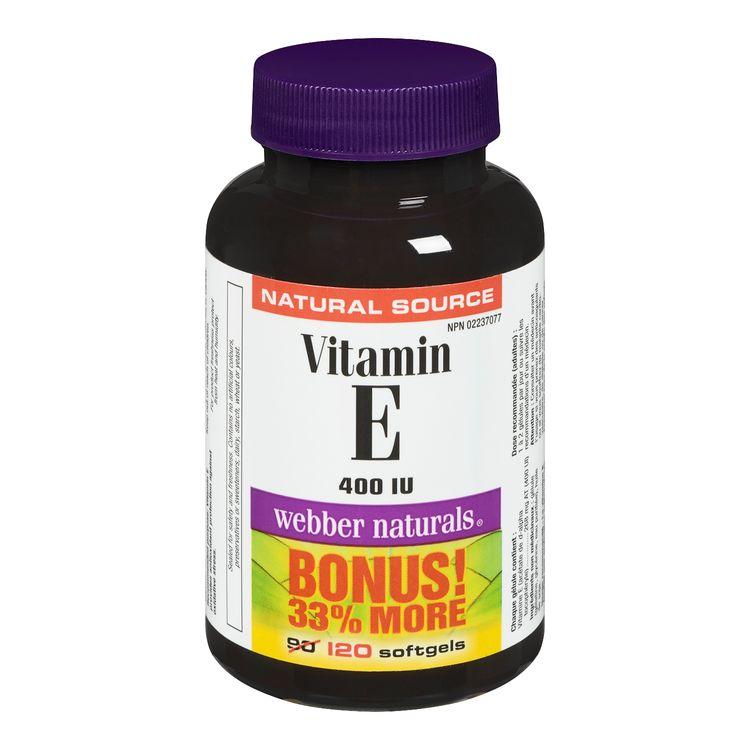 Webber Naturals Vitamin E Softgels Bonus Size, 400 IU