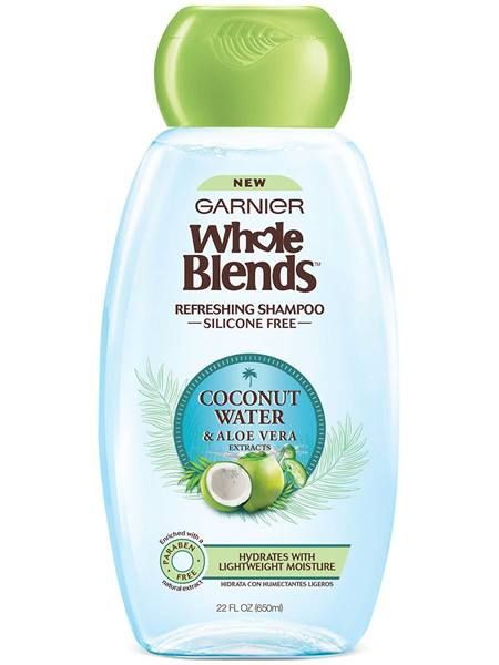Garnier Whole Blends Coconut Water And Aloe Vera Silicone Free Refreshing Shampoo