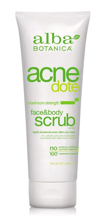 Alba Botanica Acnedote™ Face & Body Scrub