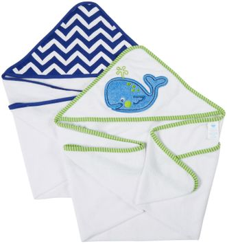 Neat Solutions 2-pk. Whale Hooded Towels