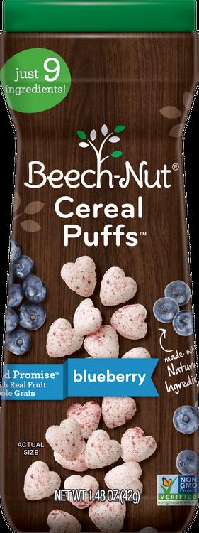 Beech-Nut blueberry cereal puffs™