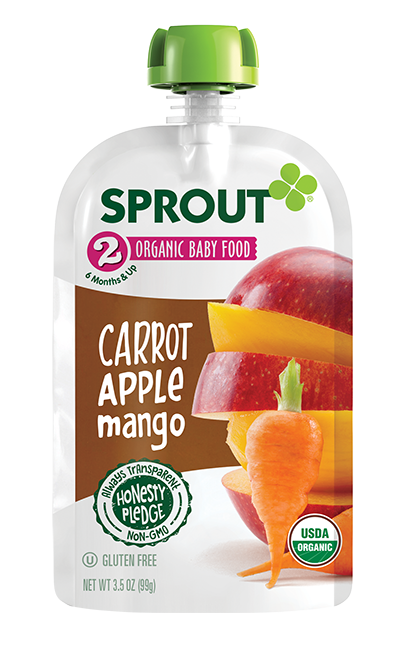 Sprout Carrot Apple Mango Organic Baby Food