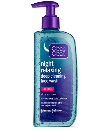 Clean & Clear® Night Relaxing™ Deep Cleaning Face Wash