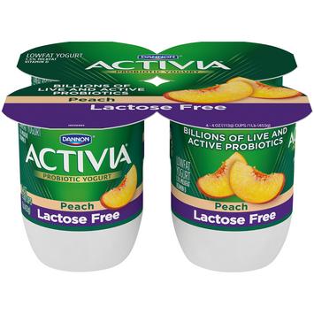 Activia® Peach Probiotic Lactose Free Yogurt