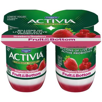 Activia® Fruit On The Bottom Strawberry Raspberry