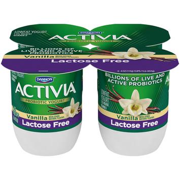 Activia® Vanilla Probiotic Lactose Free Yogurt