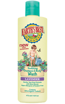 Earth's Best Organic® Soothing Lavender Shampoo and Body Wash