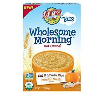 Earth's Best Organic® Pumpkin Vanilla Wholesome Morning Oat & Brown Rice