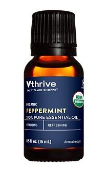Vthrive Organic Peppermint 100% Pure Essential Oil - Aromatherapy (0.5 Fluid Ounces)