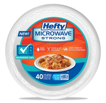 Hefty Microwave Strong Plates