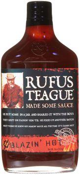 Rufus Teague Sauce Blazin Hot 16 Oz Pack Of 6