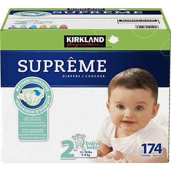 Kirkland Signature Supreme Diapers Size 2