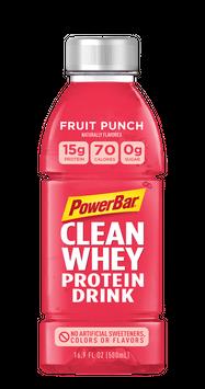 PowerBar Clean Whey Protein Drink Bottle Fruit Punch
