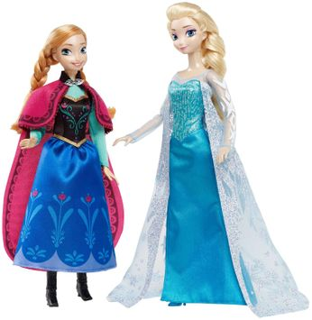 Mattel Disney Signature Collection Frozen Anna and Elsa Doll (2-Pack)