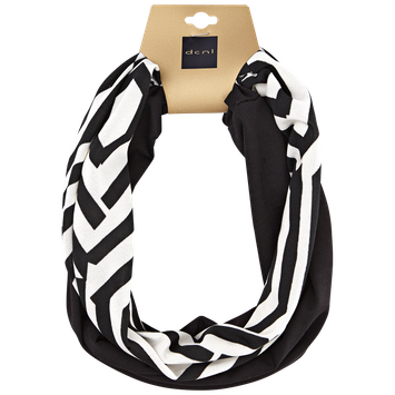 Dcnl Hair Accessories DCNL Black and White Geometric Headwrap Duo