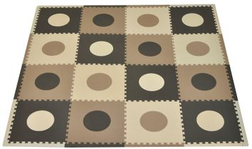 Tadpoles 16 Sq Ft Playmat Set - Taupe/Brown