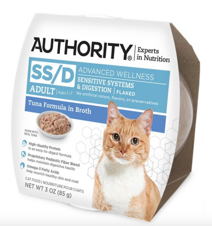 Authority® Advanced Wellness Sensitive Systems & Digestions Flaked Wet Cat Food