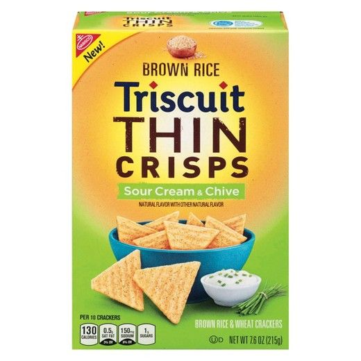 Nabisco Triscuit - Crackers Thin C - Brown Rice & Wheat Sour Cream & Chives
