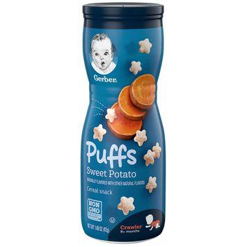 Gerber Puffs Cereal Snack, Sweet Potato, 1.48 oz