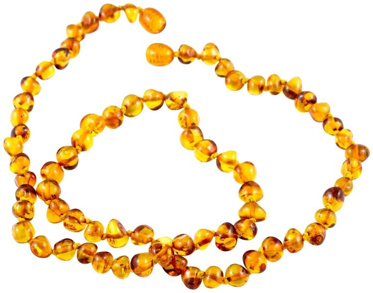 "Healing Hazel 100% Baltic Amber Adult Necklace - Cognac Polished 18""-20"" - 1 ct."