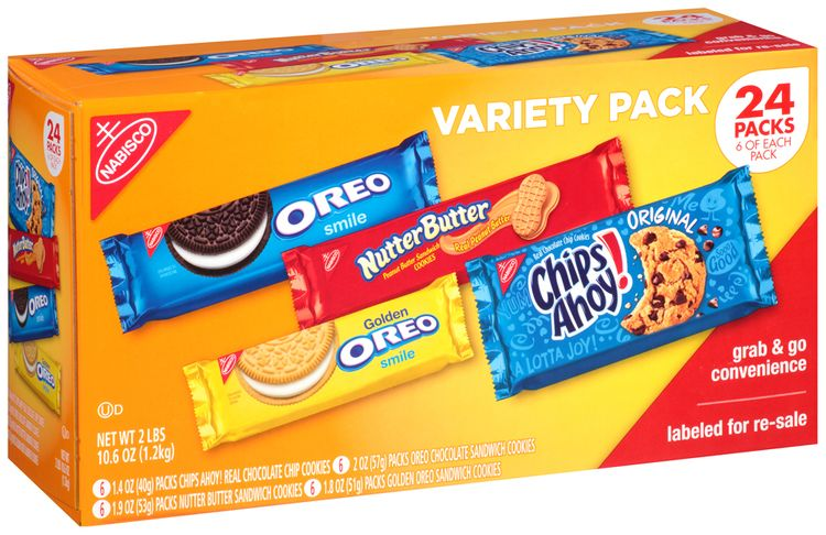 Nabisco Variety Pack - Cookies - Chips Ahoy!/Oreo/Golden Oreo/Nutter Butter