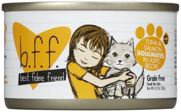 Best Feline Friend Tuna and Salmon Soulmates Canned Cat Food 3 oz trays - 12 pack