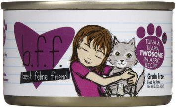 Best Feline Friend Tuna and Tilapia Twosome Wet Cat Food Size: 3 oz, case of 12