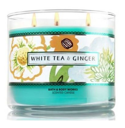 Bath & Body Works® WHITE TEA & GINGER 3-Wick Scented Candle
