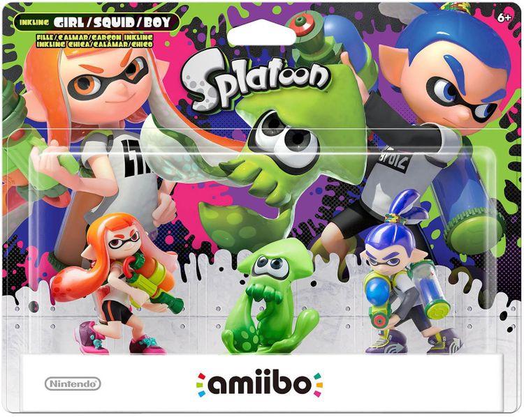 Nintendo - Amiibo Figures (splatoon Series Inkling Girl/inkling Squid/inkling Boy) - Multi