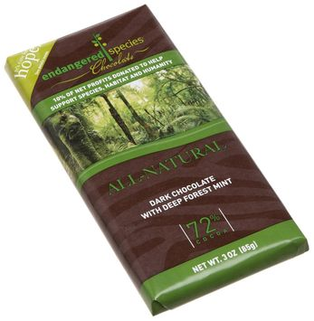 Endangered Species Chocolate Co. Dark Chocolate With Deep Forest Mint