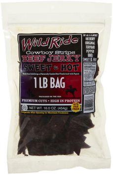 Wild Ride Beef Jerky Cowboy Strips, Sweet & Hot